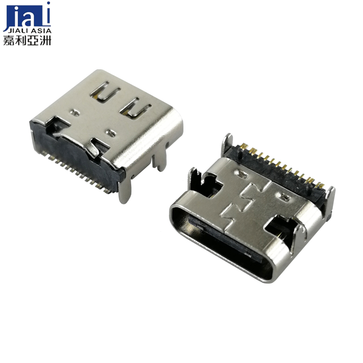 USB TYPE-C 16PINS RECEPTACLE SMT TYPE
