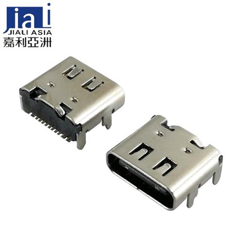 USB Type-C母座带弹片