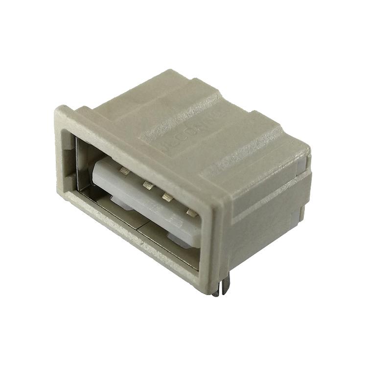 DIP90度白色铜镍全包反向2P鱼叉式短体11.20