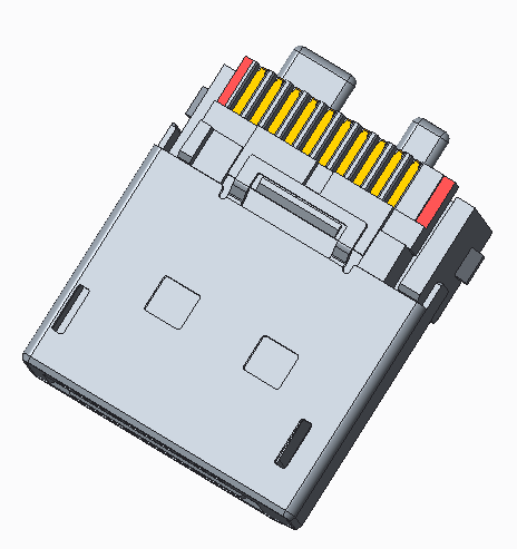 Display Port 公头短型线端