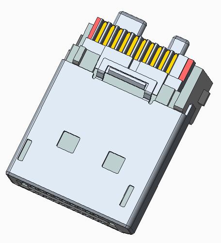 Display Port 公头长型线端